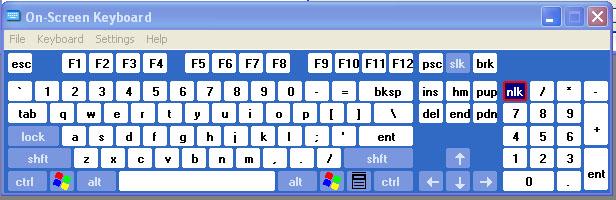 VirtualKeyboard-XP