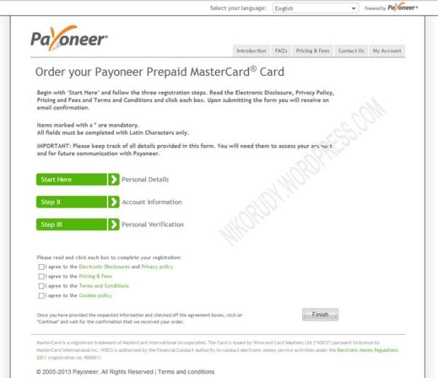 Daftar Payoneer - step 2 - 0
