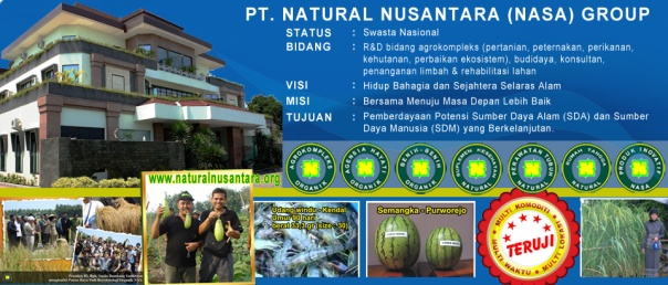visi misi pt natural nusantara nasa