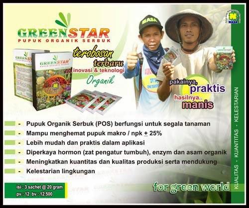 greenstar pupuk organik serbuk