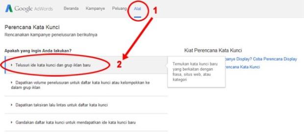 perencanaan kata kunci google