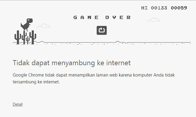 google-game-saat-koneksi-internet-putus