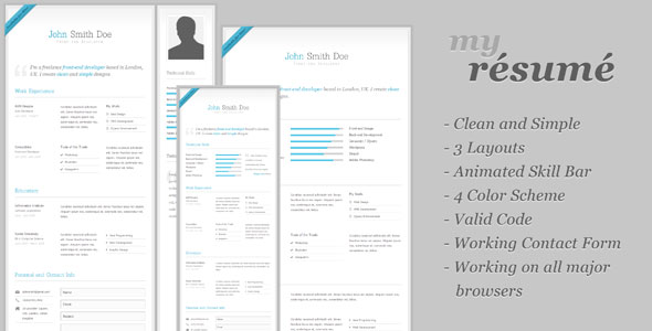 my-resume-clean-cvresume-template-theme