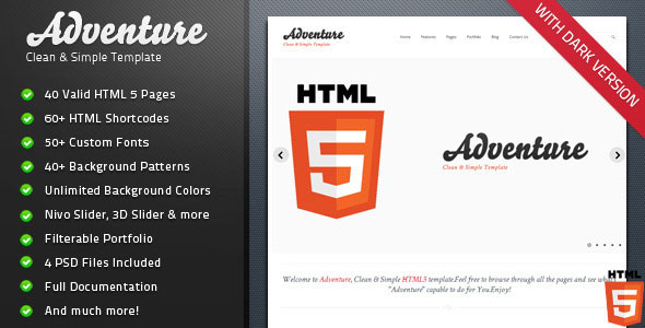 adventure-clean-simple-html-5-themeforest-template